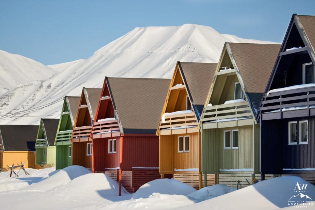 Houses in Svalbard