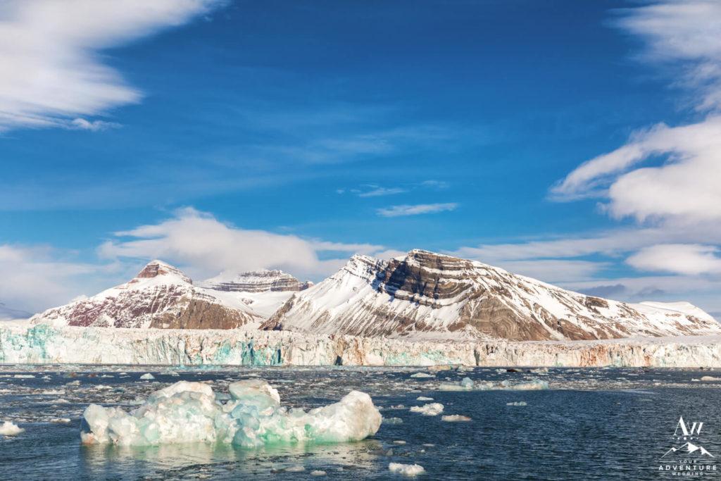 Svalbard Mountain Icebergs