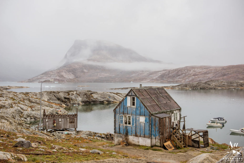 Abandoned Blue House in Greenland