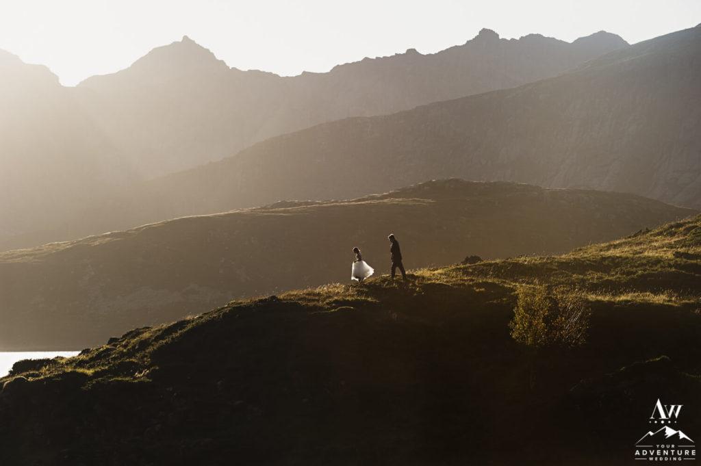 Svalbard Elopement Couple Running