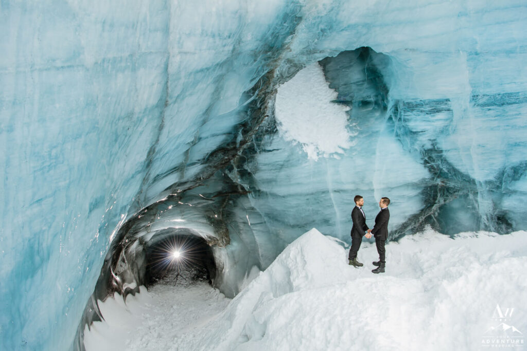 March Ice Cave Wedding