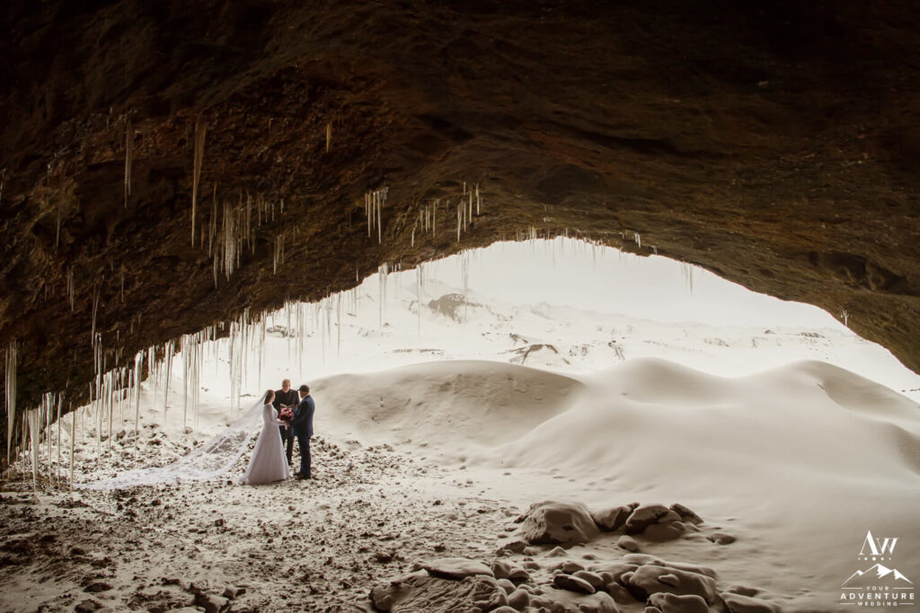 Cave Elopement During Winter in Iceland