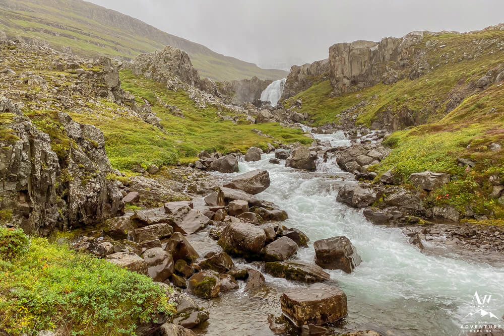 Vestdalur Waterfalls in East Iceland