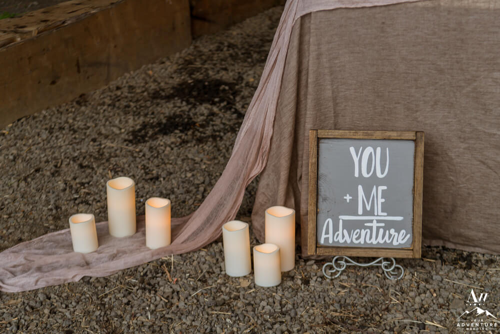 You + Me = Adventure Sign