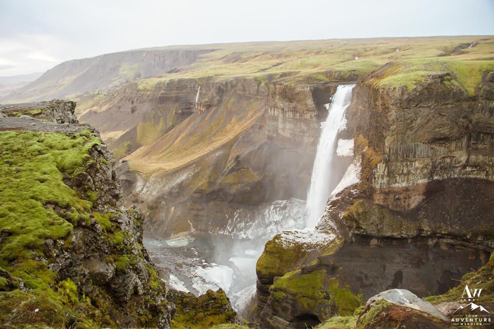 Iceland Waterfall Haifoss Waterfall