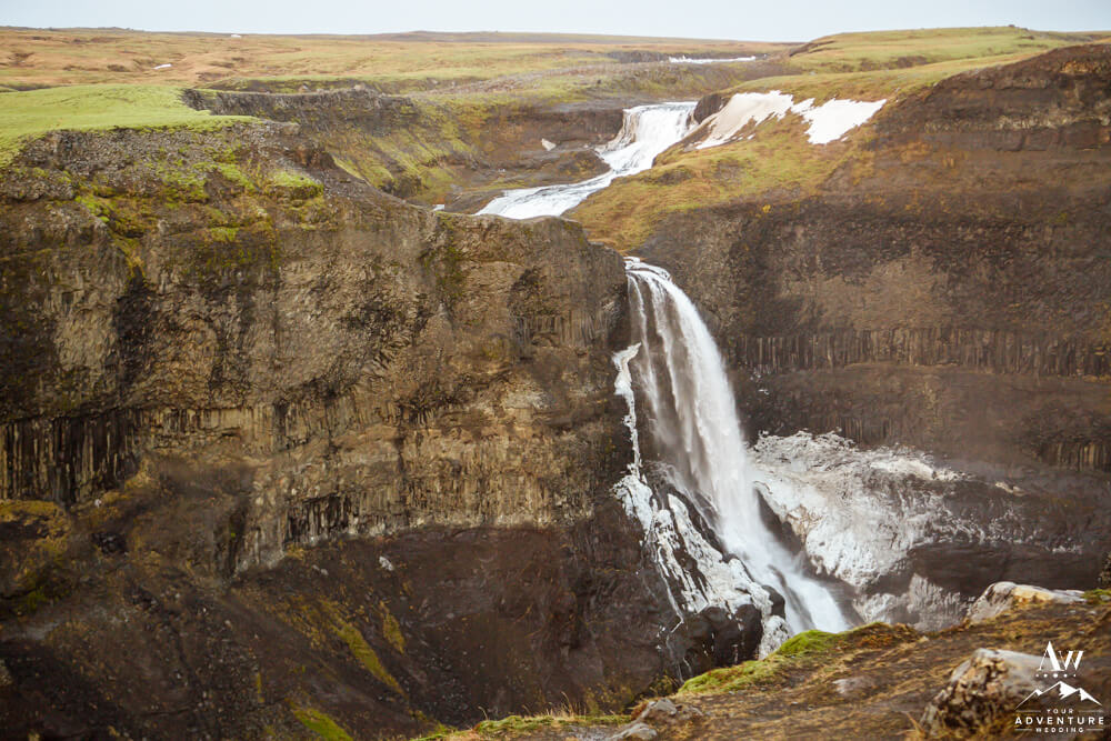 Haifoss Waterfall in Iceland