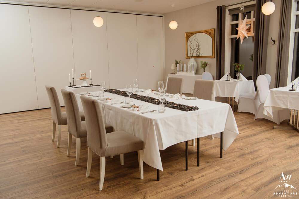 Hotel Grimsborgir Wedding Reception Setup