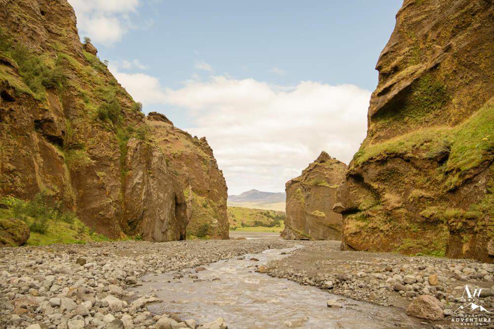 Stakkholtsgjá Hike Riverbed Photo