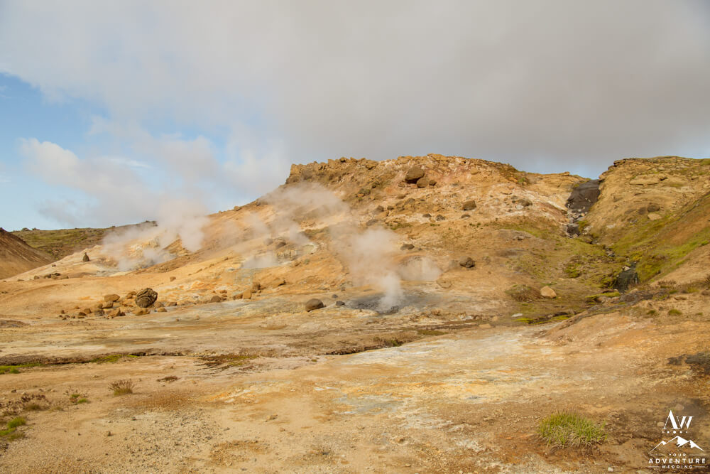 Geothermal area in South Iceland