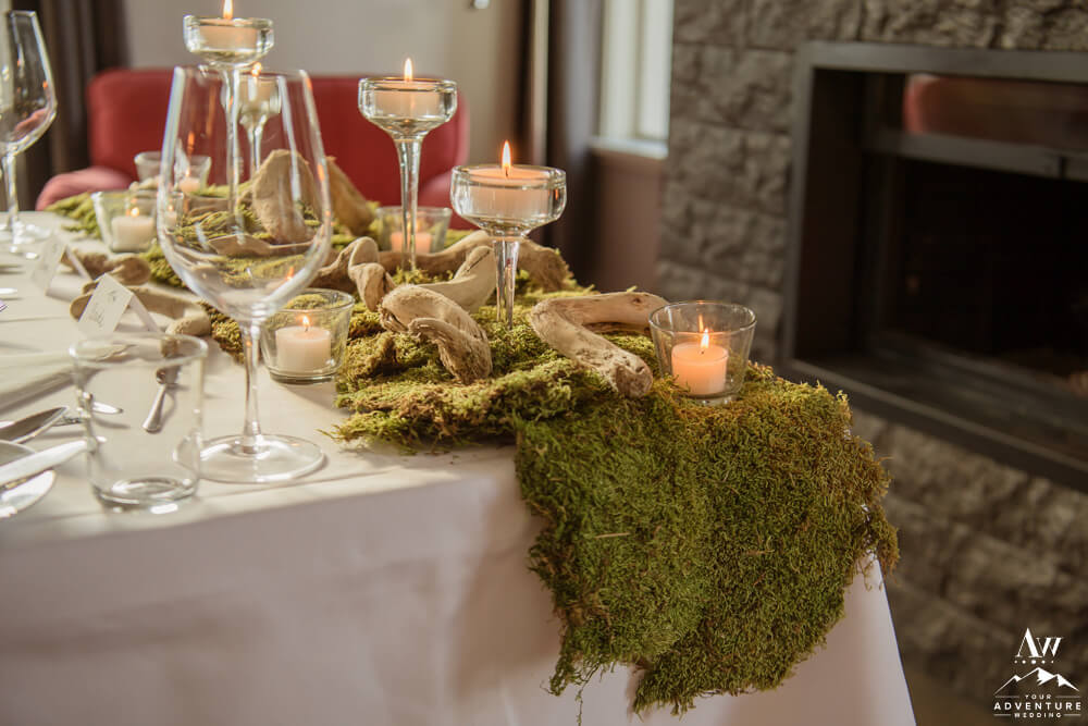 Moss and Driftwood Table Runner
