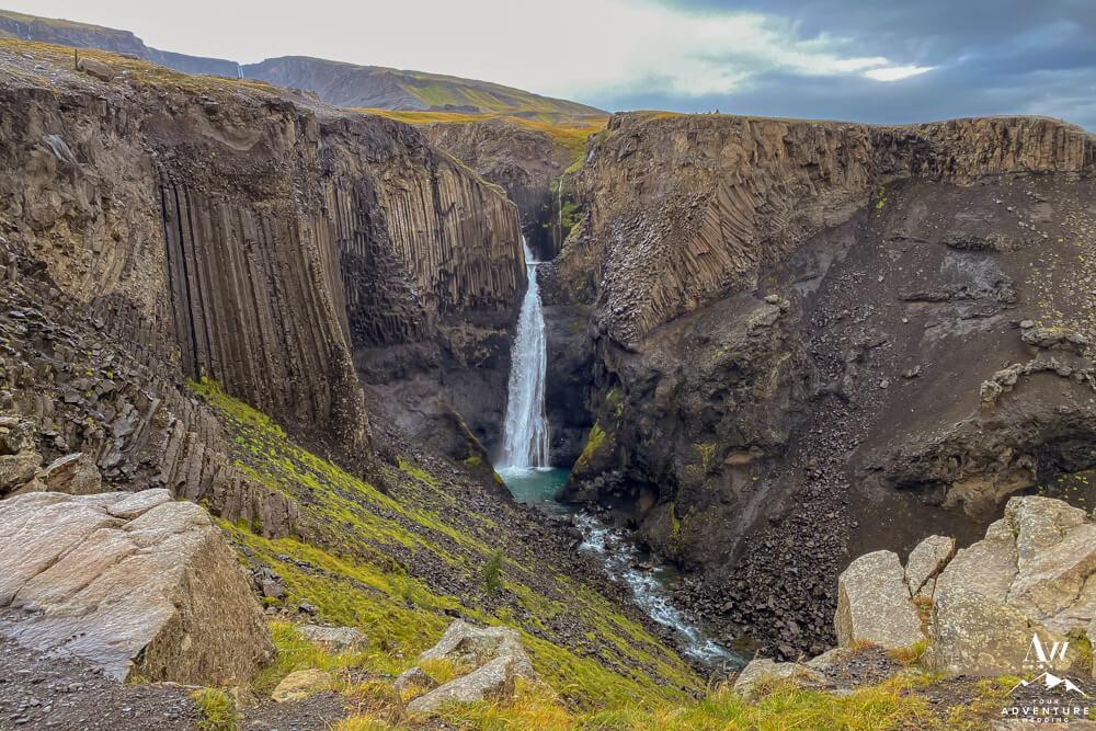Litlanesfoss Waterfall in September