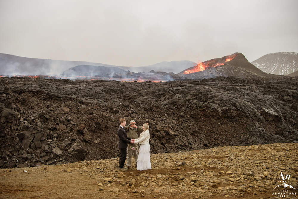 Iceland Engagement Commitment Ceremony at Volcano