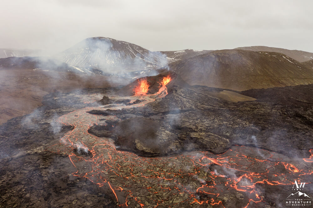2021 Iceland Volcanic Eruption from Drone
