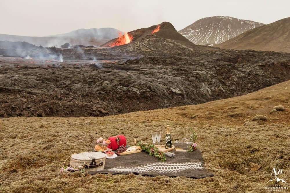 Luxury Picnic at Iceland Volcano