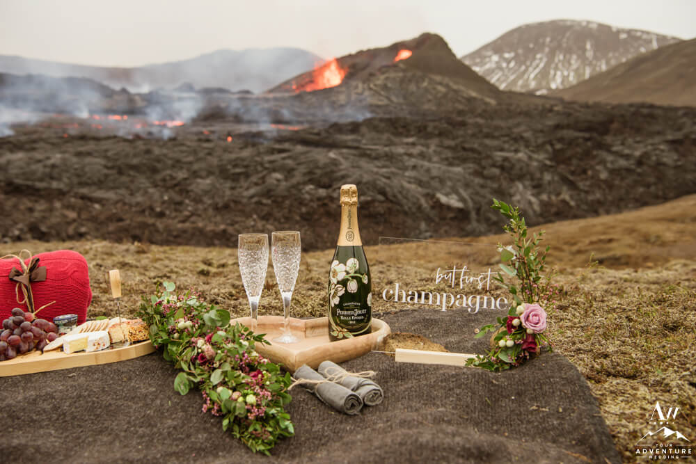 Perrier Jouet Champagne at a Volcano