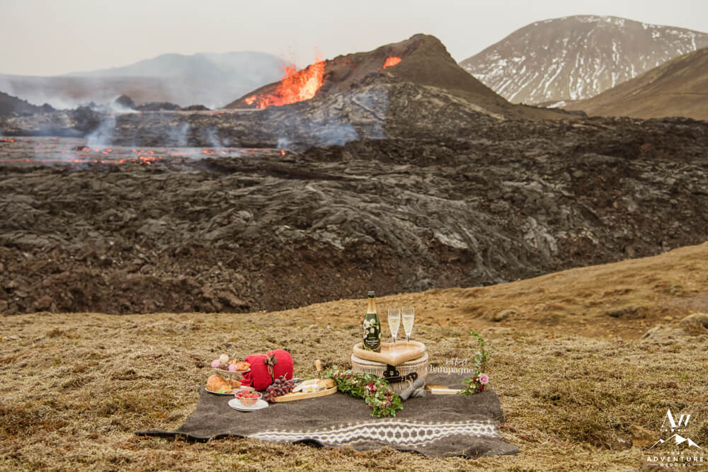 Luxury Volcano Picnic with Perrier-Jouët