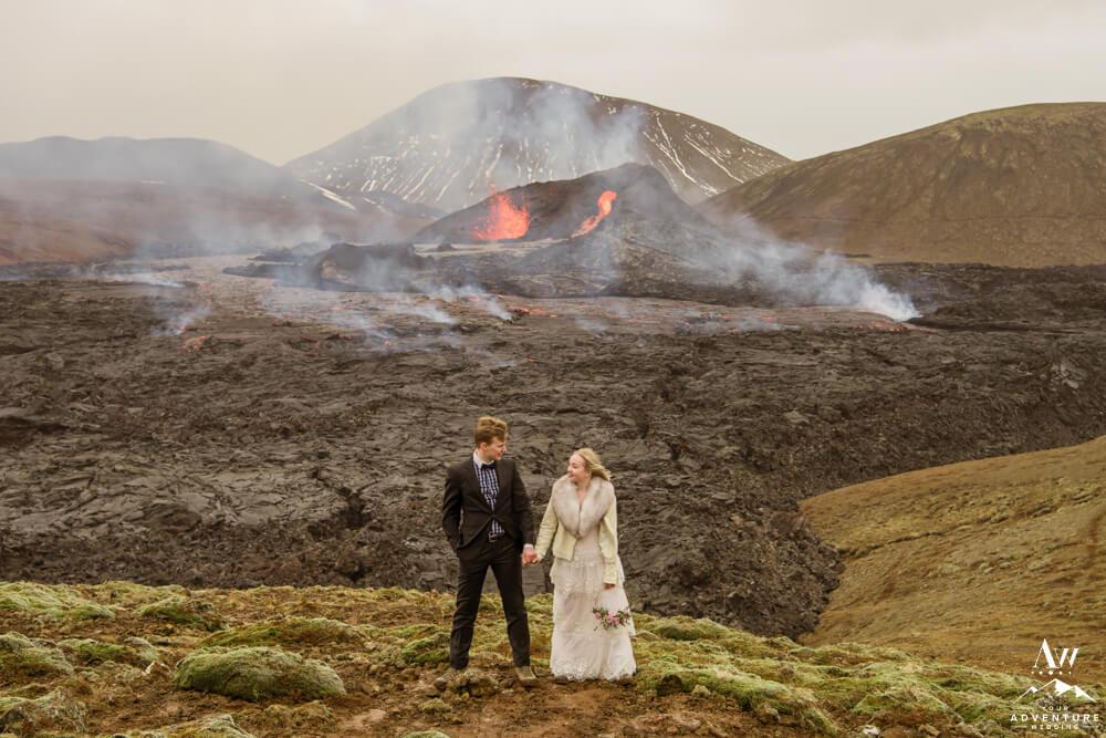 Geldingadalir Iceland Volcano Wedding