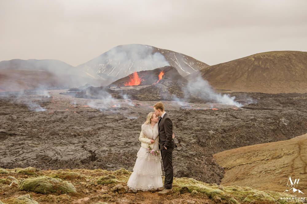 Iceland Adventure Elopement at Geldingadalir Volcano