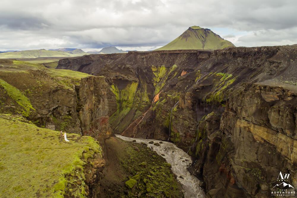 Romantic Canyon Iceland Elopement