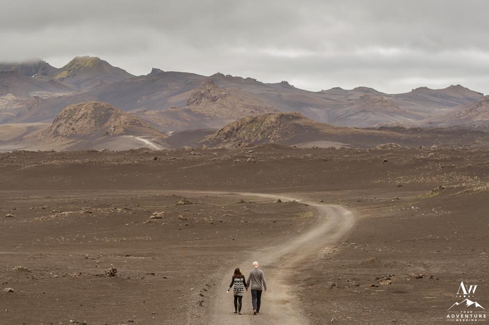 Honeymooners in Iceland Lunar Landscape