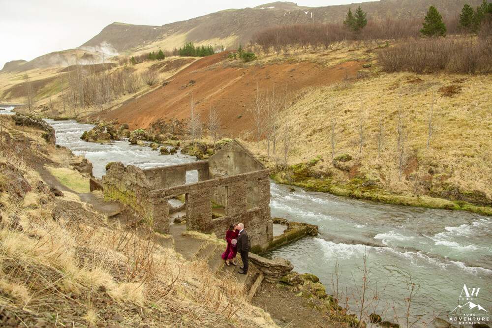 April Elopement Couple in Iceland