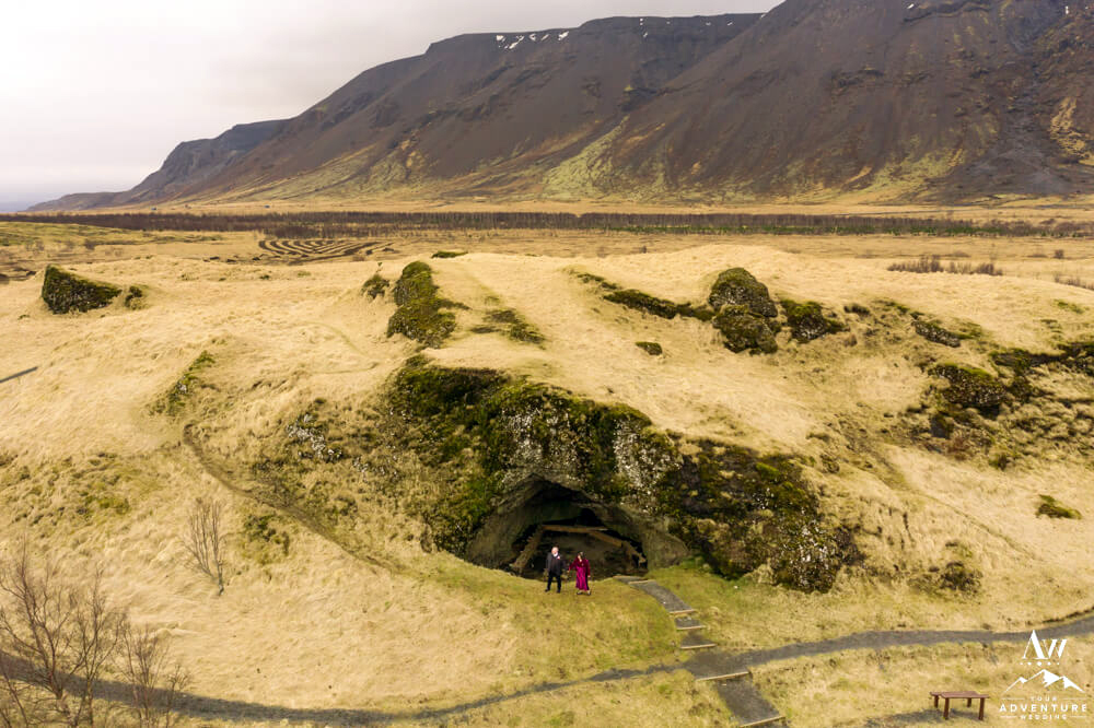 April Elopement in Iceland at a Cave