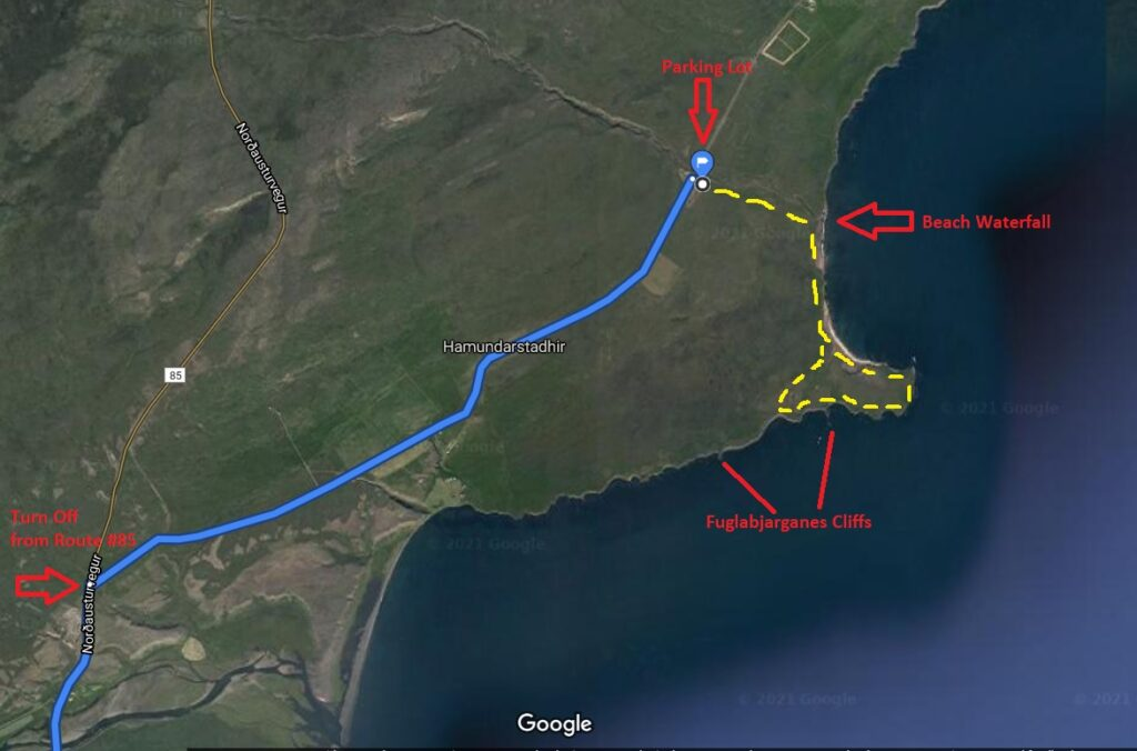 Map of Fuglabjarganes Hike