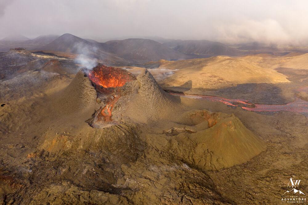 Iceland Volcano Eruption Wedding Photos