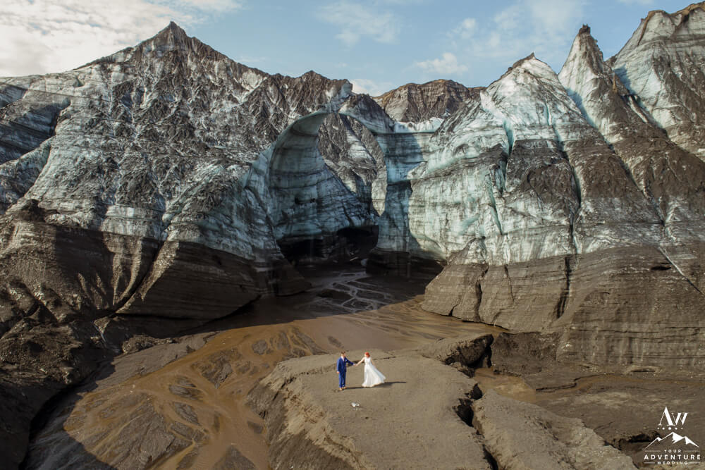 experience driven wedding at glacier in Iceland