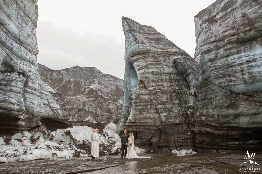 Ice Valley Elopement in Iceland