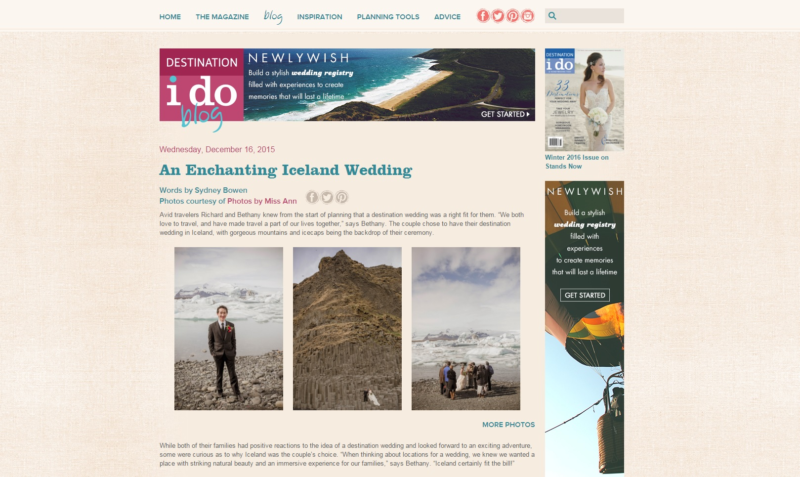Destination I Do Blog Feature Iceland Wedding