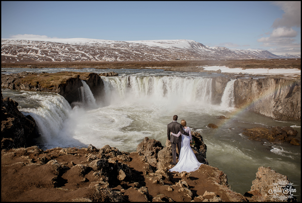 Godafoss Waterfall Iceland Wedding Photographer