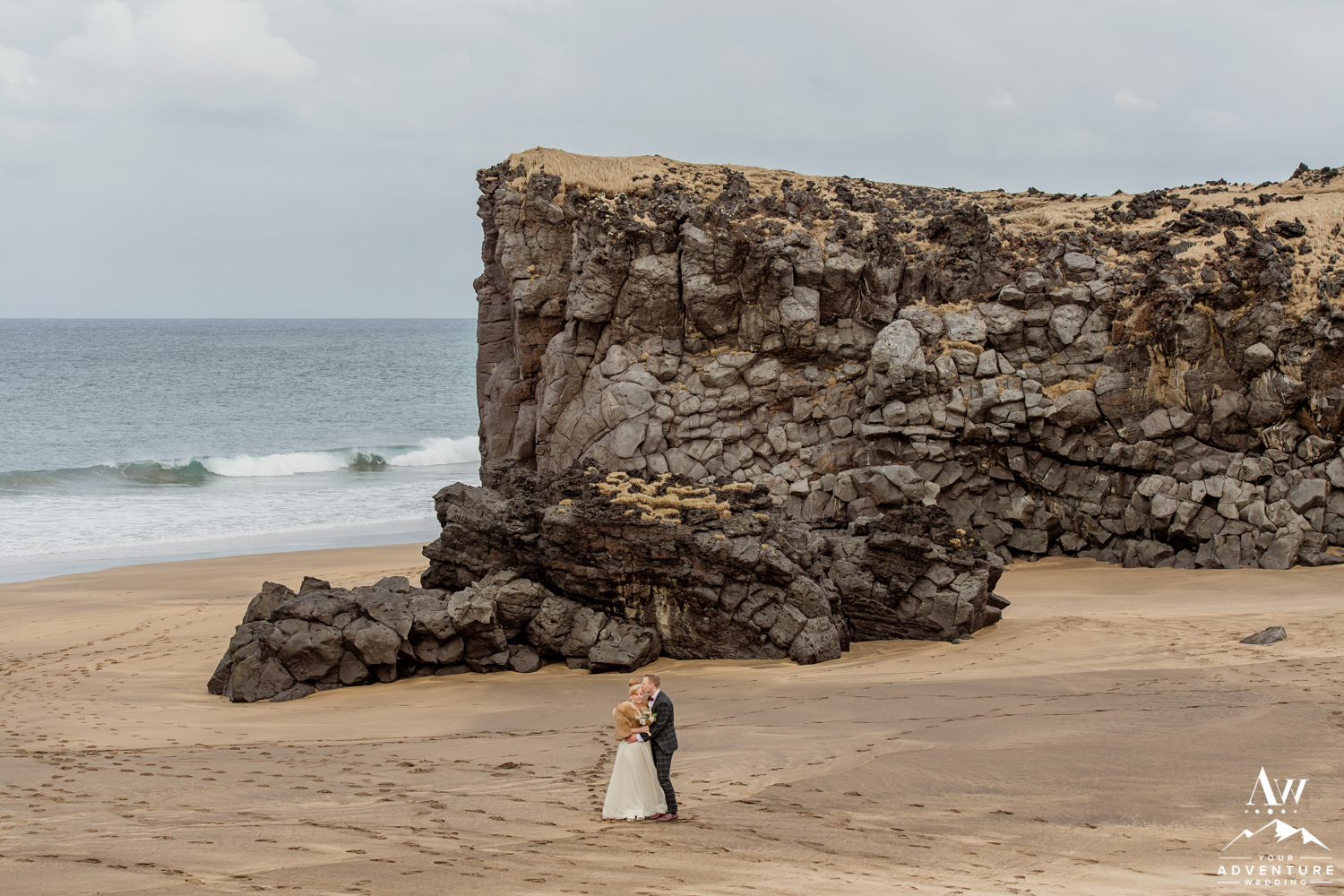 Iceland Beach Wedding Snaefellsnes
