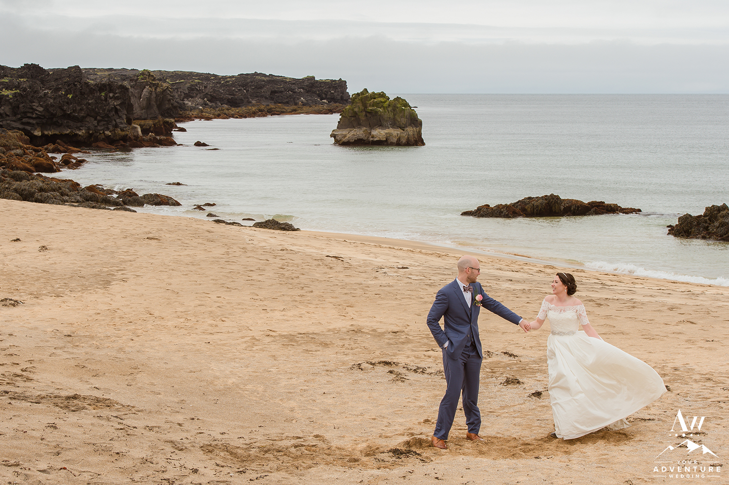 Iceland Golden Sand Beach Wedding