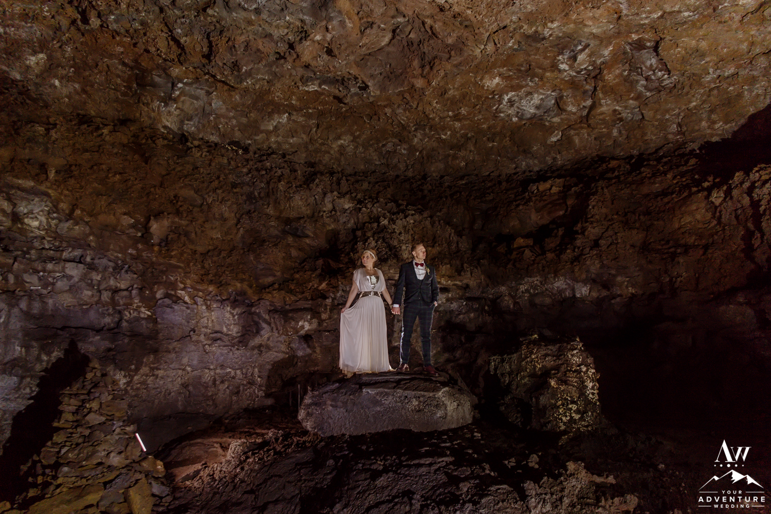 Iceland Lava Tube Wedding