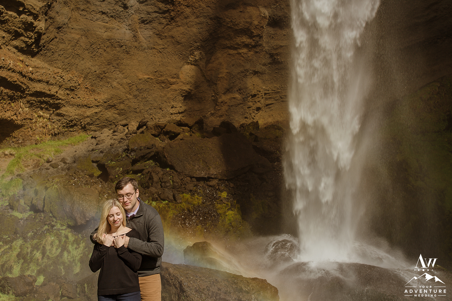 iceland-waterfall-engagement-session