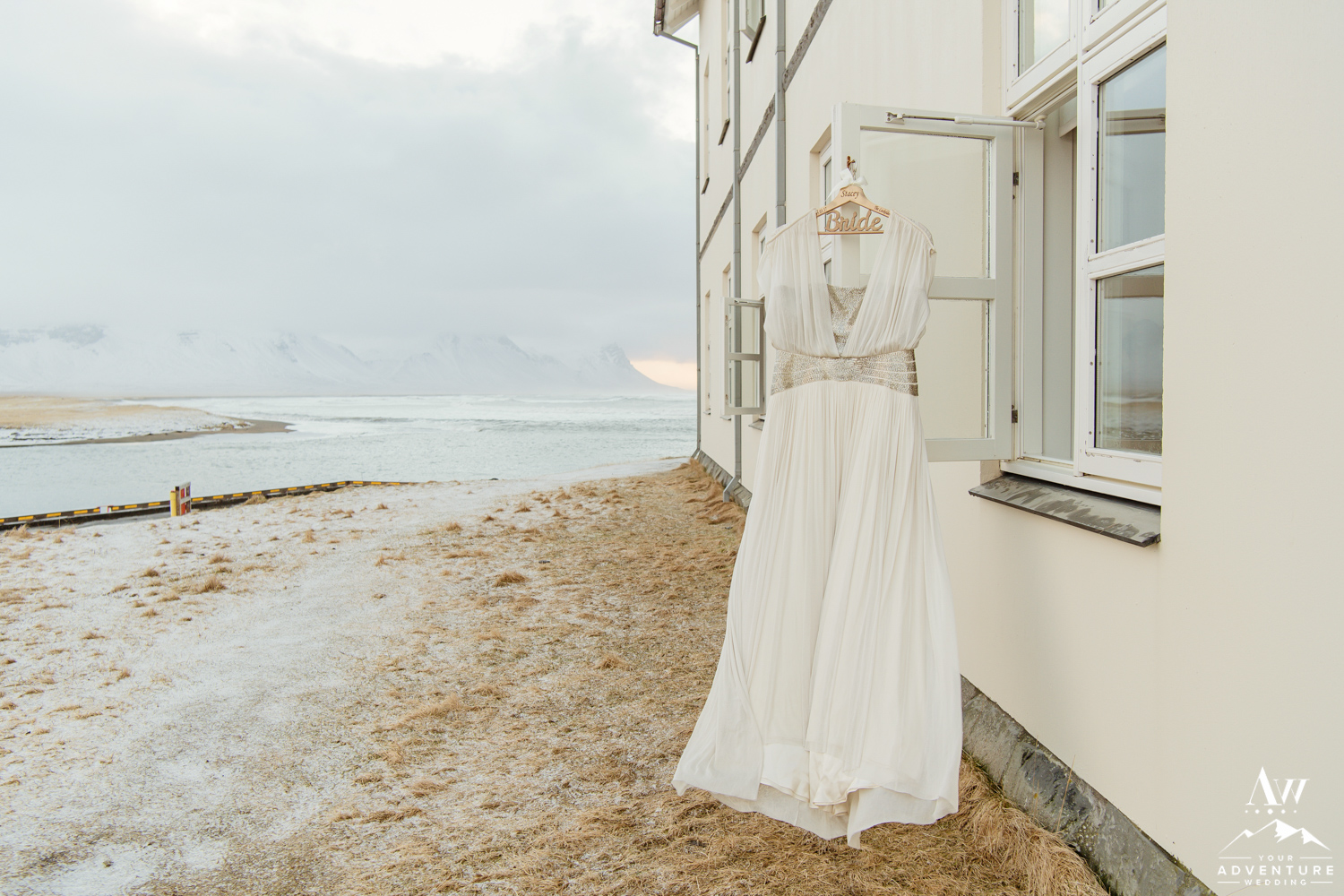 Iceland Wedding Dress-Hotel Budir