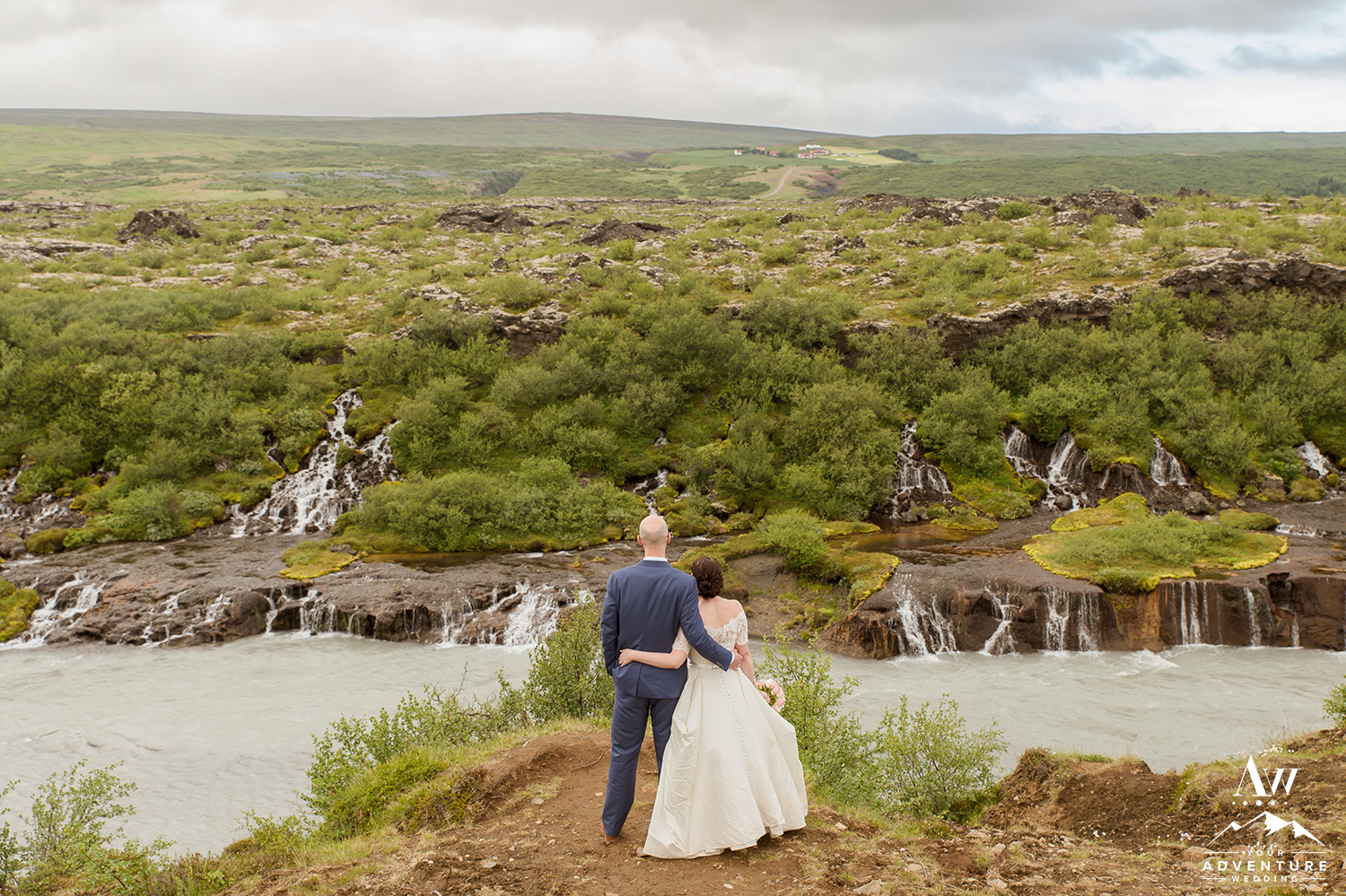 Iceland Wedding - Hraunfossar Waterfall