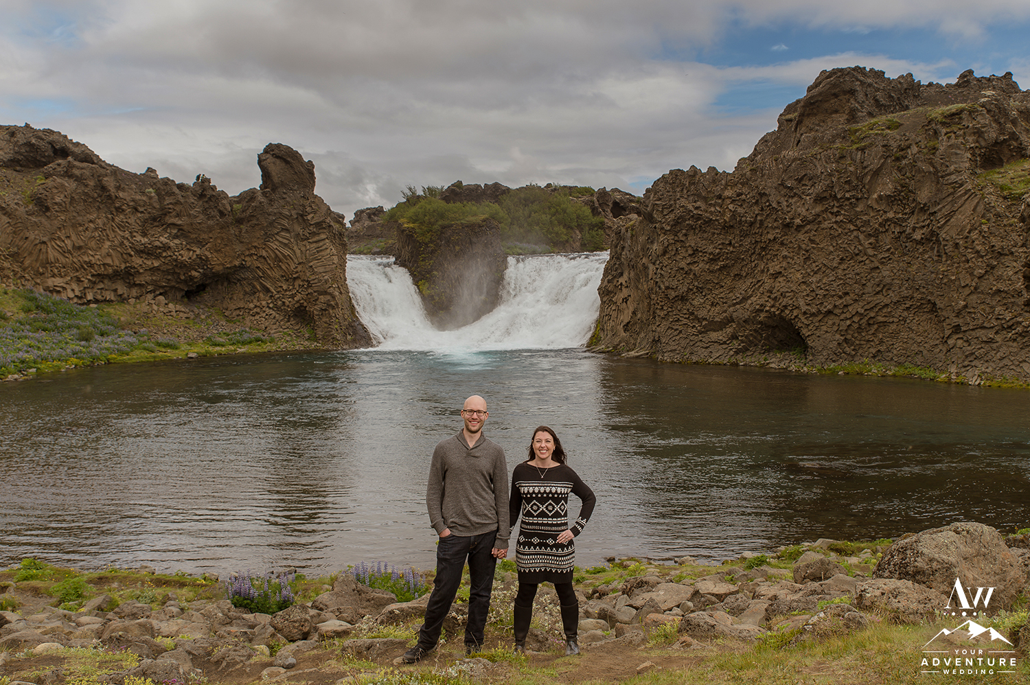 Iceland Wedding Photographer Unity Waterfall - Your Adventure Wedding