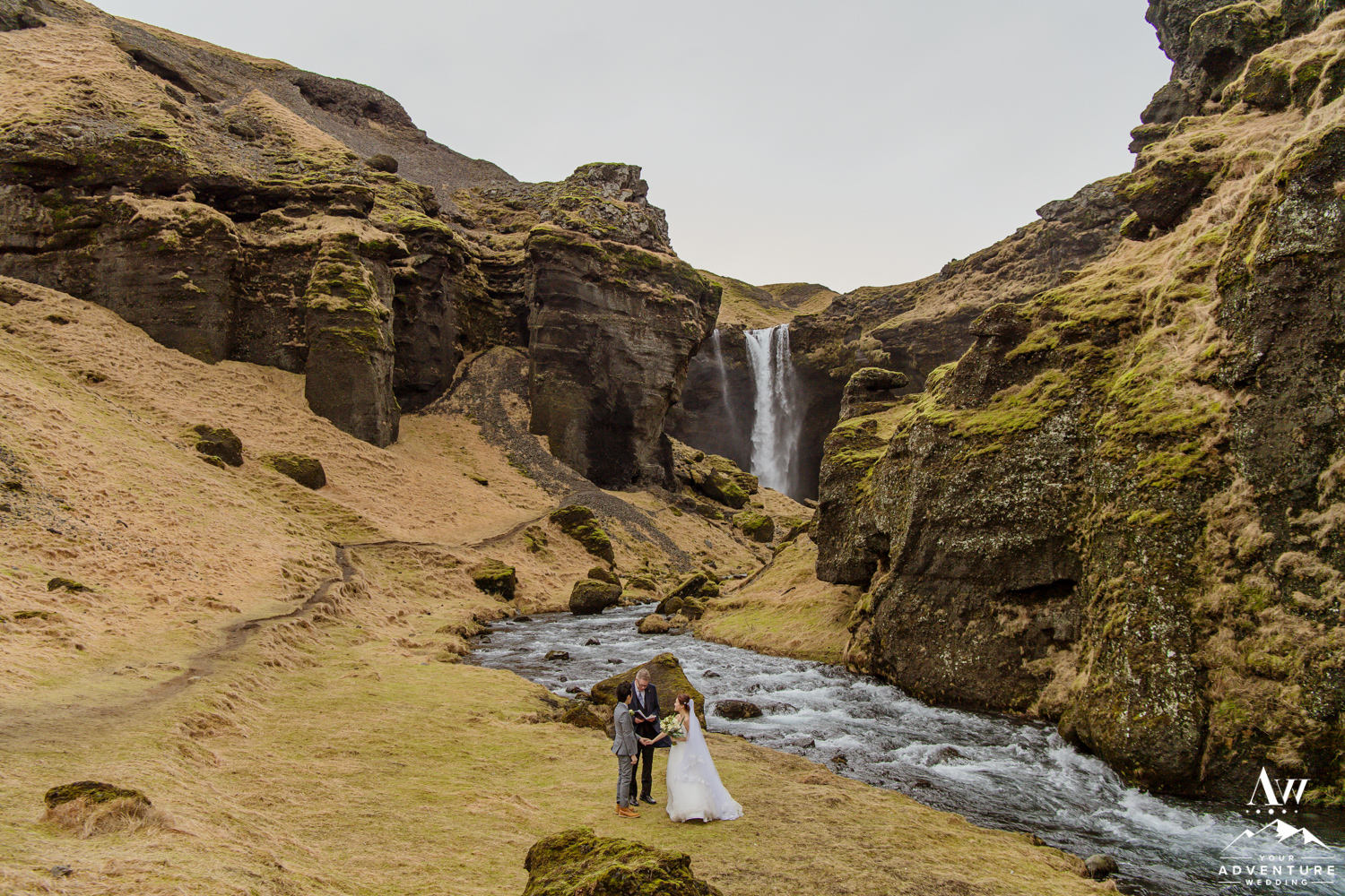 Iceland Elopement Photos-Kvernufoss Wedding