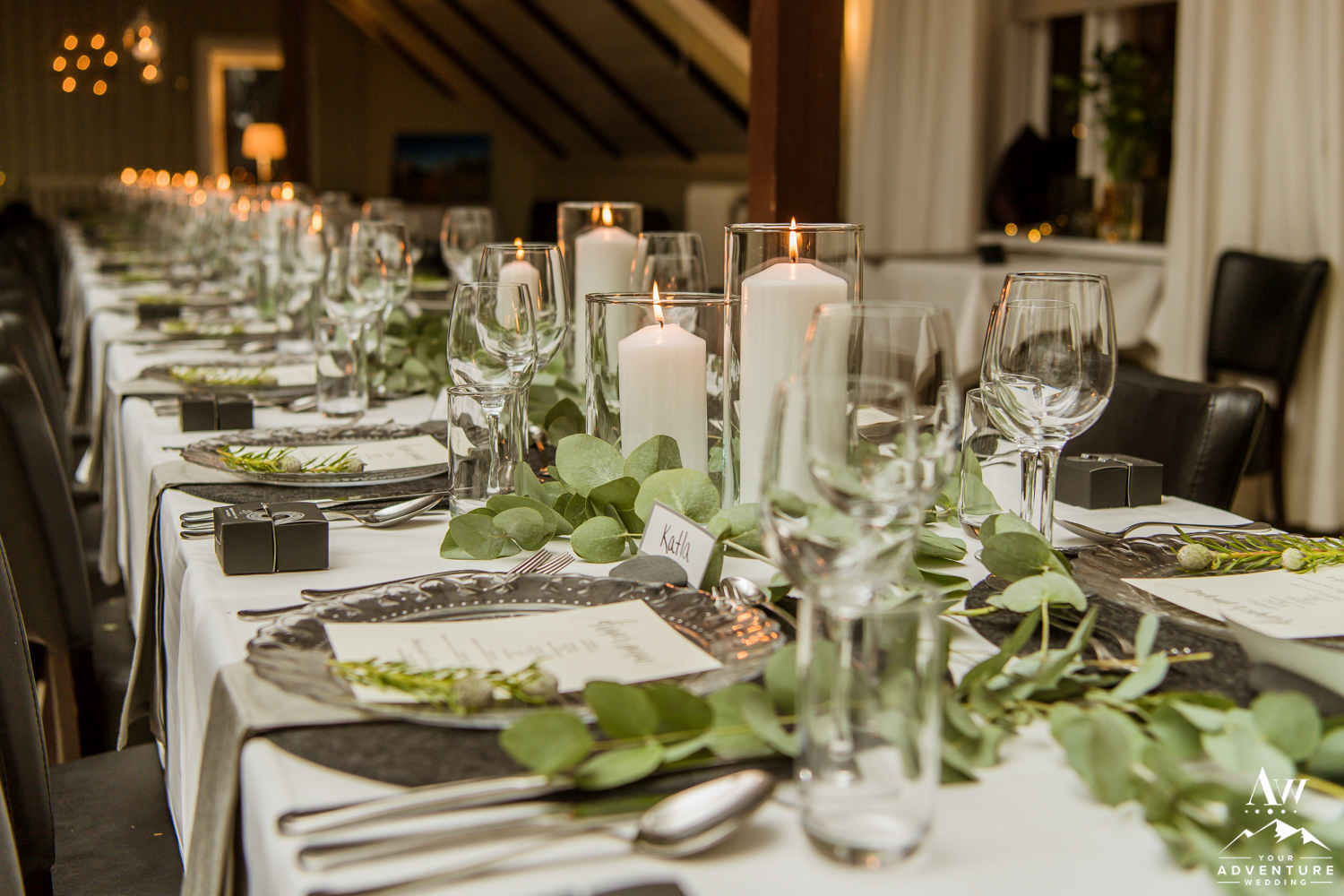 iceland-wedding-reception-candle-centerpieces